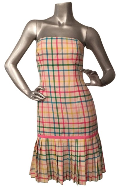 Preload https://img-static.tradesy.com/item/19029193/milly-of-new-york-pink-green-yellow-blue-pleated-and-plaid-above-knee-short-casual-dress-size-2-xs-0-5-650-650.jpg