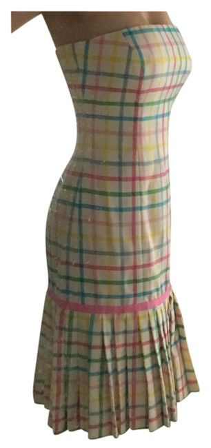 Milly of New York short dress Pink, green, yellow, blue on Tradesy Image 1