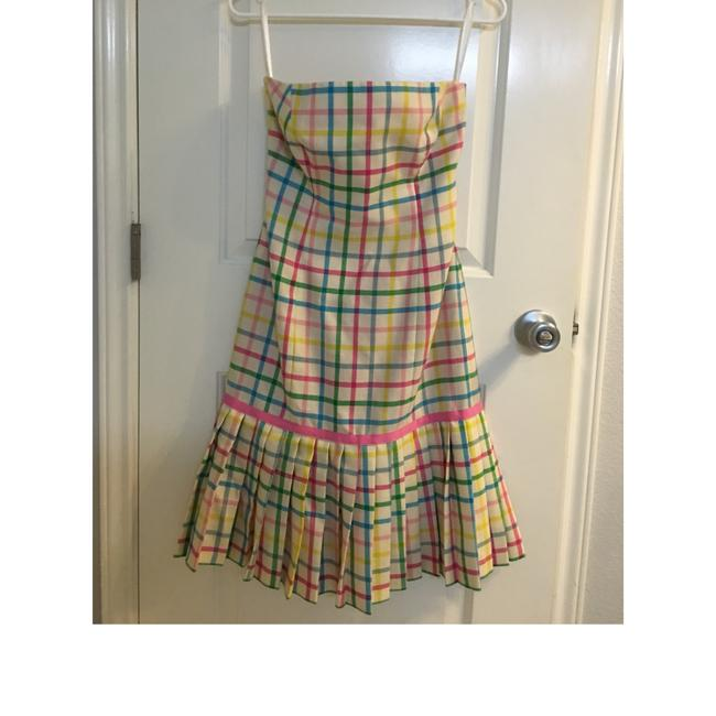 Milly of New York short dress Pink, green, yellow, blue on Tradesy Image 2