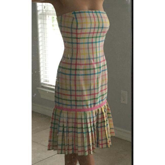 Milly of New York short dress Pink, green, yellow, blue on Tradesy Image 5