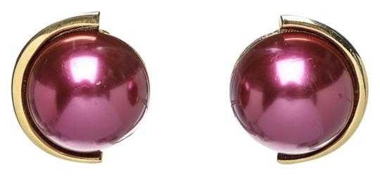 Lanvin Lanvin Purple and Gold Clip-On Earrings 30036 Image 0
