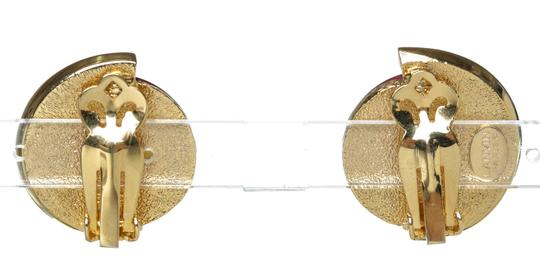 Lanvin Lanvin Purple and Gold Clip-On Earrings 30036 Image 2