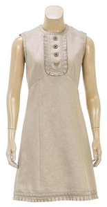 Louis Vuitton short dress Beige on Tradesy