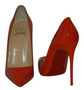 Christian Louboutin Brand New In Box ORANGE Pumps