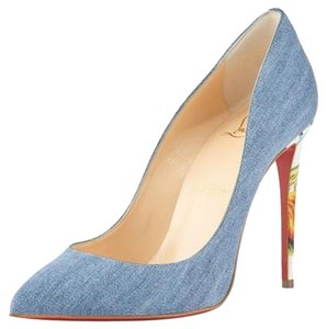 Christian Louboutin Brand New In Box DENIM MULTI Pumps