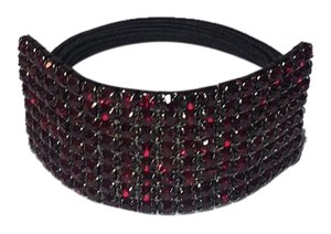 Half Cuff RHINESTONE HAIR BAND Red