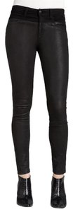JOE'S Leather Lambskin Moto Skinny Jeans