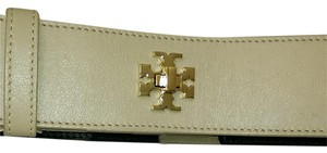 Tory Burch NEW Logo turnlock stretch belt MED size