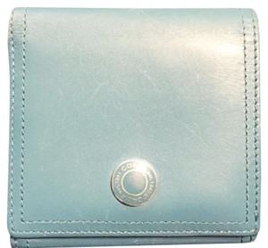 Coach Teal Trifold Snap Button Wallet