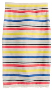 J.Crew Stripped Cotton Lined Skirt JACQUARD STRIPED SKIRT