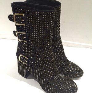 Laurence Dacade Black suede with gold studs Boots