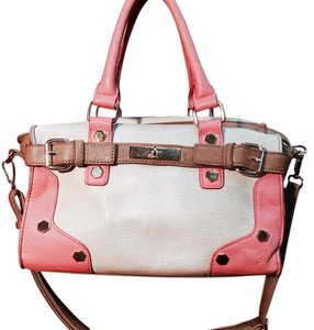 Melie Bianco Satchel in Ivory And Coral