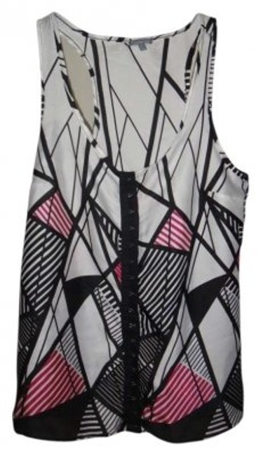 Preload https://item5.tradesy.com/images/charlotte-russe-pink-black-white-tank-topcami-size-2-xs-190329-0-0.jpg?width=400&height=650
