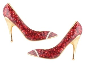 Kate Spade NEW Kate Spade New York Red Glitter Shoe in Heel StudEarrings