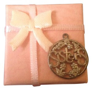 Other 925 Stamped Sterling Silver'SISTERS' Charm With Pink Jewelry Box