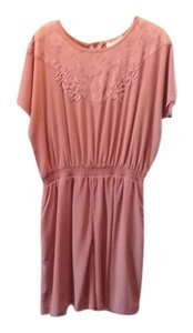 Adolfo short dress mauve Stylish Washable on Tradesy