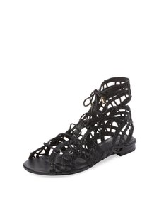 Joie Gladiator Lace Up Black Sandals
