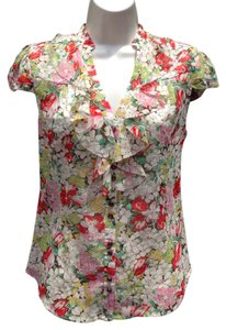 Anthropologie Top Floral