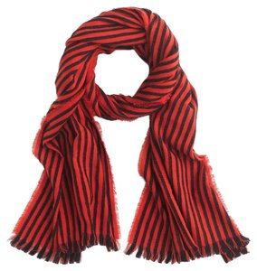 J.Crew J. Crew Striped fringe scarf One Size