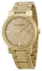 Burberry BU9033 BURBERRY The City Champagne Dial Gold-tone UnisexWatch