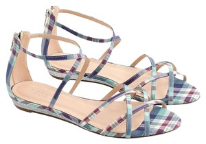 J.Crew Nude Ballet Flats Leather Flats Chain seafoam multi Sandals