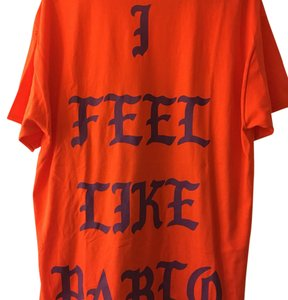 Kanye West Pablo T Shirt Orange