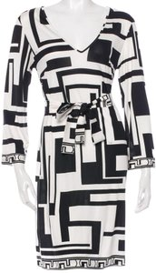 Emilio Pucci V-neck Monogram Longsleeve Dress