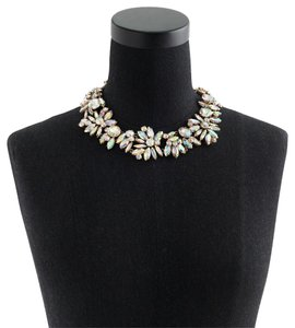 J.Crew Iridescent crystal cluster necklace