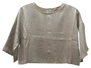 Forever 21 Crop Boxy Top Metallic