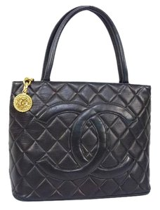 Chanel Handbag Logo Grand Tote Shoulder Bag