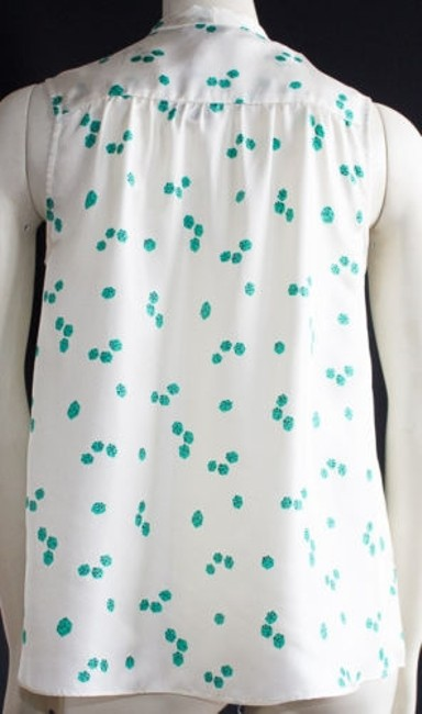 Elizabeth and James Cream Green Sleeveless Jamie Xlnt Top Ivory
