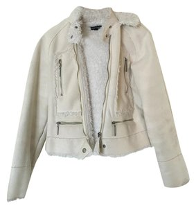 bebe Faux Fur Moto Jacket Fur Coat