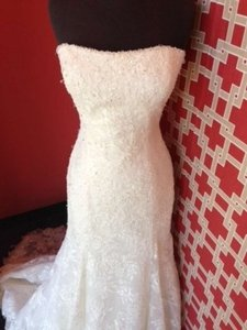 Enzoani Ivory Lace Cambridge Vintage Wedding Dress Size 10 (M)