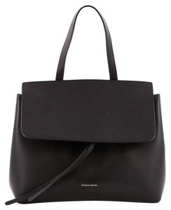 Mansur Gavriel Leather Satchel in Black
