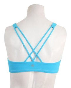 Lululemon Blue Lycra Free To Be Yoga Cross Strap Back Sports Bra