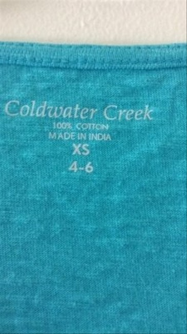 Coldwater Creek With Sequin Trim T Shirt turquoise