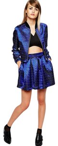 ASOS The Laden Showroom X Domino Club Mini Skirt Multi-Color