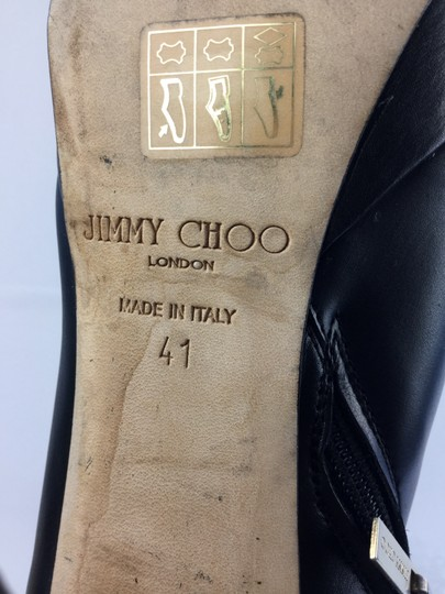 Jimmy Choo Leather Mirage Black Boots