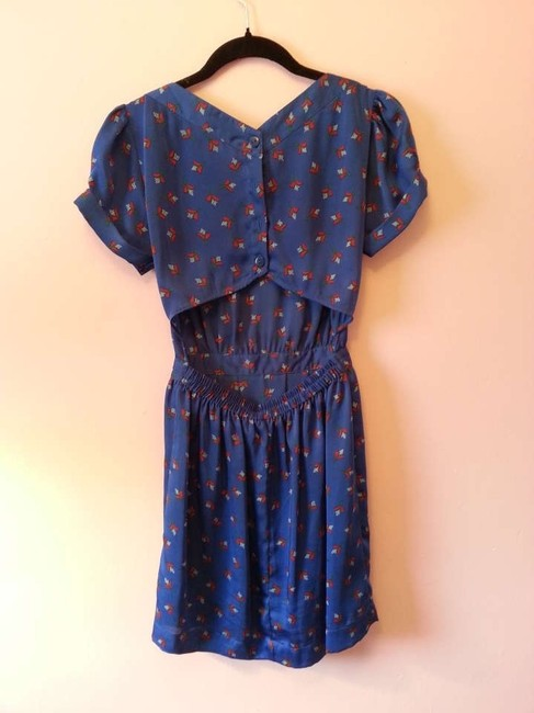 Urban Outfitters short dress Blue Open Back Patterned on Tradesy