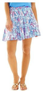 Lilly Pulitzer Sailboats Skirt Right Red Return