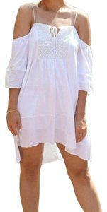 Zara short dress White Beach Summer Cut-out Mini on Tradesy