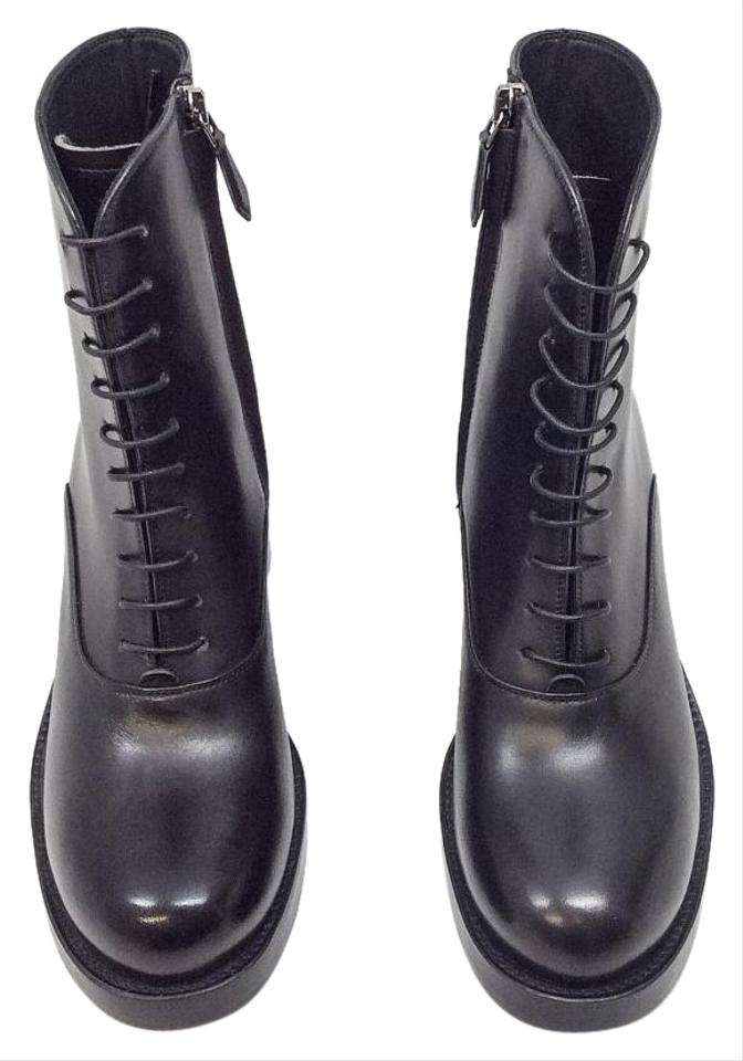 miu miu lace up black boots on sale 76 off boots booties on sale. Black Bedroom Furniture Sets. Home Design Ideas