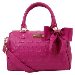 Betsey Johnson Fun Satchel in Pink