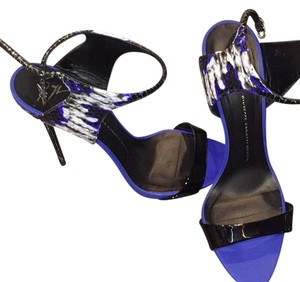 Giuseppe Zanotti Black white and blue Sandals