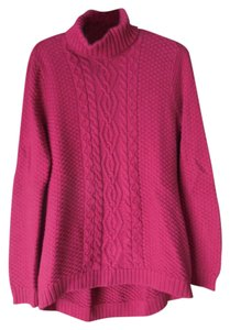 Jeanne Pierre Turtleneck Cable Stitch Sweater