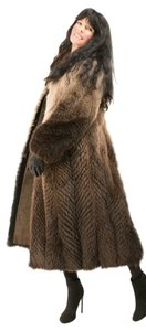Saga Furs Fur Opposum Fur Coat