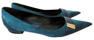 Dior Leather Italian Comfortable Blue Flats