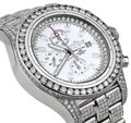 Breitling Diamond Breitling Super Avenger Watch White Index Dial Model A13370 Image 0