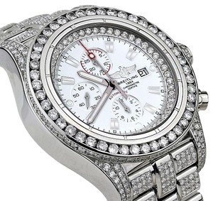Breitling Diamond Breitling Super Avenger Watch White Index Dial Model A13370