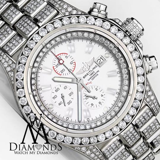 Breitling Diamond Breitling Super Avenger Watch White Index Dial Model A13370 Image 2